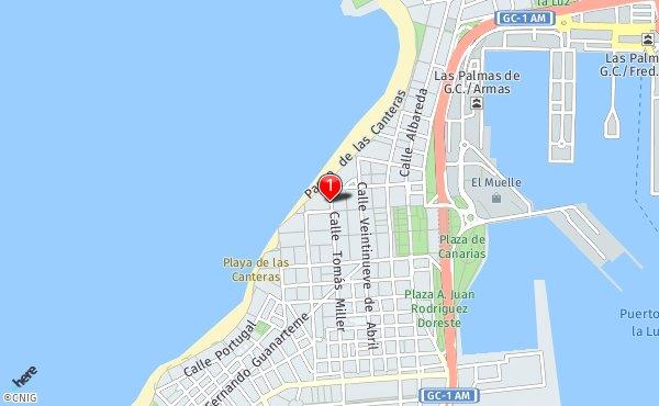 Mapa De Las Palmas De Gran Canaria Calles.Calle De Tomas Miller 85 Callejero De Las Palmas De Gran