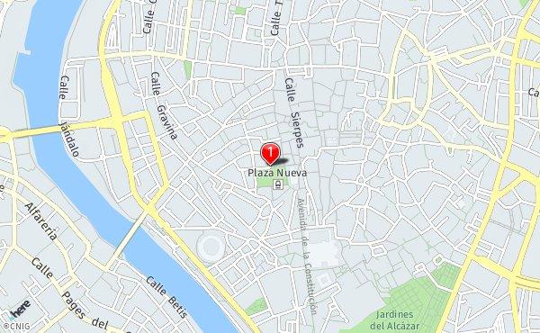 Mapa Callejero De Sevilla.Plaza Nueva Callejero De Sevilla Callejero Net