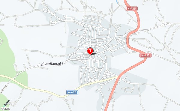 Zalamea La Real Mapa.Calles De Zalamea La Real Callejero Net