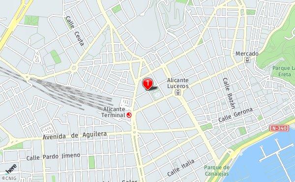 San Juan Alicante Mapa.Calle De San Juan Bosco Callejero De Alicante Callejero Net
