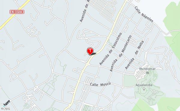 Rincon De Loix Mapa.Rincon De Loix Callejero De Benidorm Callejero Net