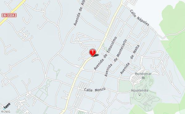 Rincon De Loix Mapa.Avinguda Rincon De Loix Callejero De Benidorm Callejero Net
