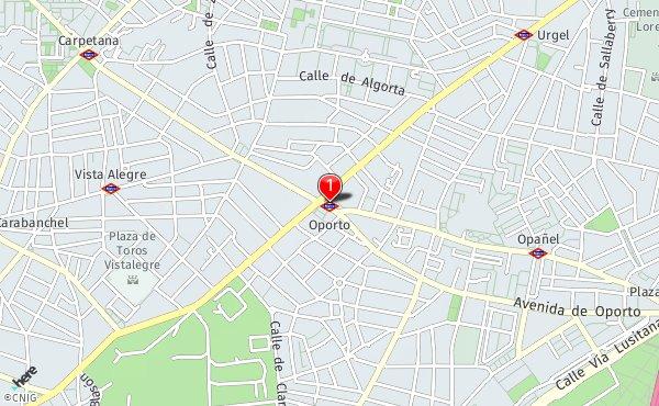 Metro De Oporto Mapa.Estacion Metro Oporto Callejero De Madrid Callejero Net