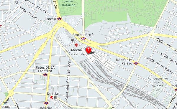 Estacion De Atocha Mapa.Estacion De Atocha Callejero De Madrid Callejero Net