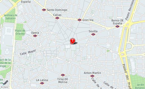 Mapa Puerta Del Sol.Plaza De La Puerta Del Sol Callejero De Madrid Callejero Net