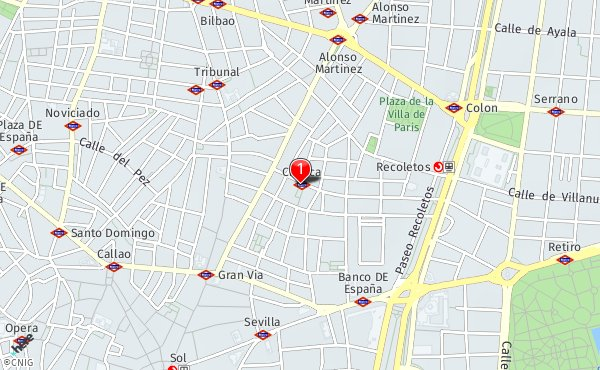 Barrio Chueca Madrid Mapa.Plaza De Chueca Callejero De Madrid Callejero Net