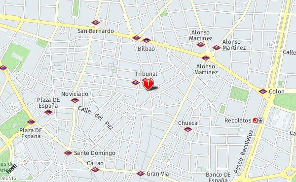Calle De San Vicente Ferrer 1 Callejero De Madrid Callejero Net