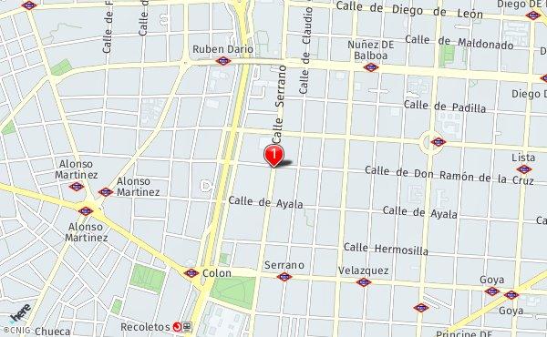 Calle Serrano Madrid Mapa.Calle De Serrano 45 Callejero De Madrid Callejero Net