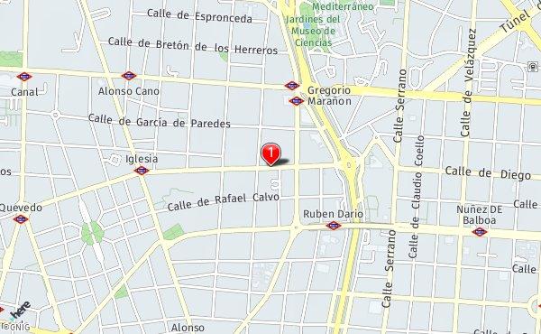 Paseo General Martinez Campos Callejero De Madrid Callejero Net