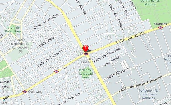 Ciudad Lineal Madrid Mapa.Ciudad Lineal Callejero De Madrid Callejero Net