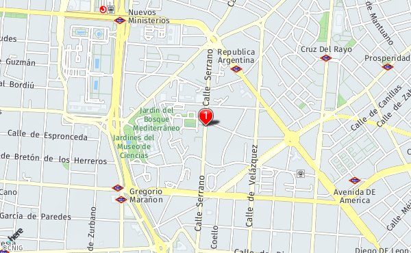Calle Serrano Madrid Mapa.Calle De Serrano 115 Callejero De Madrid Callejero Net