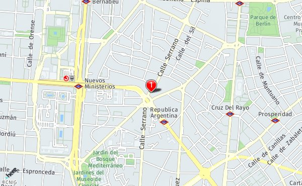 Calle Serrano Madrid Mapa.Calle Serrano 6 Callejero De Madrid Callejero Net