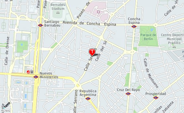 Calle Serrano Madrid Mapa.Calle De Serrano Callejero De Madrid Callejero Net
