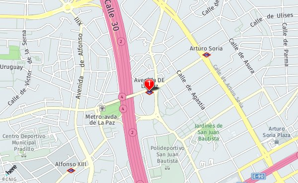 Avenida De La Paz Callejero De Madrid Callejero Net