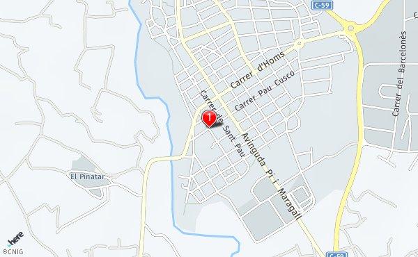 Caldes De Montbui Mapa.Calle De Llobet I Vall Llosera Callejero De Caldes De