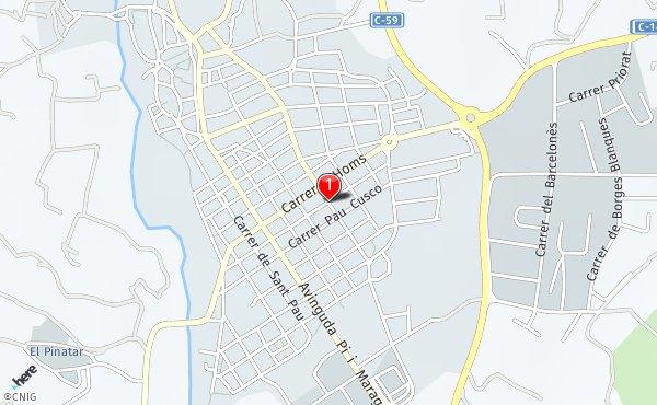 Caldes De Montbui Mapa.Carrer De L Estacio Callejero De Caldes De Montbui