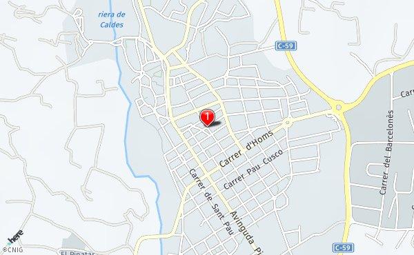 Caldes De Montbui Mapa.Placa De L Esglesia Callejero De Caldes De Montbui