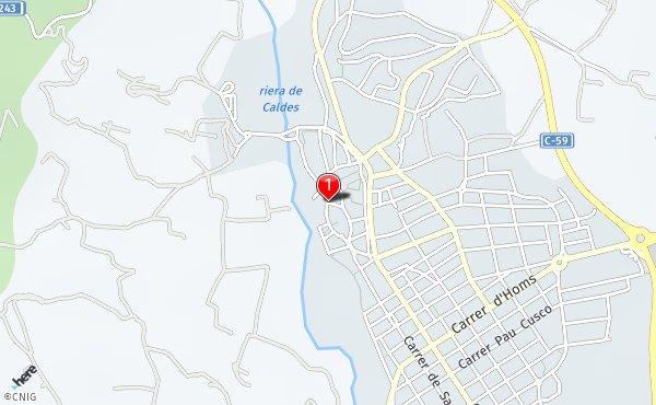 Caldes De Montbui Mapa.Calle De Barcelona 12 Callejero De Caldes De Montbui