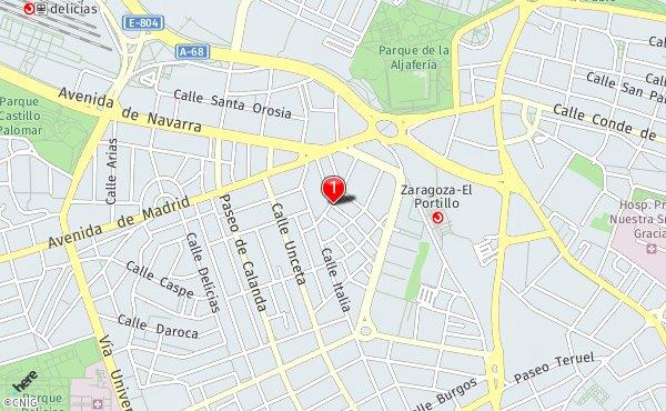 Navas De Tolosa Mapa.Calle De Las Navas De Tolosa Callejero De Zaragoza