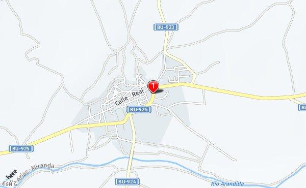 Peñaranda De Duero Mapa.Calle De La Cava Callejero De Penaranda De Duero