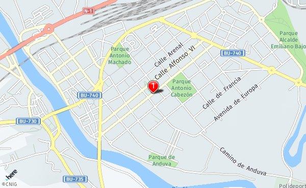 Condado De Treviño Mapa.Calle Del Condado De Trevino 36 Callejero De Miranda De