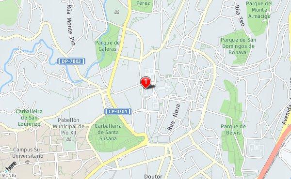 Callejero Mapa De Santiago De Compostela.Callejero De Santiago De Compostela Planos Y Mapas De La