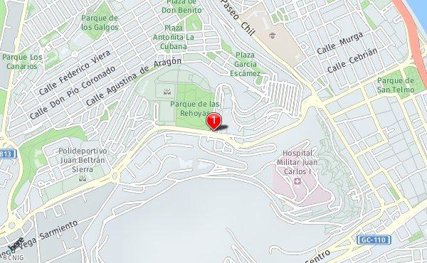 Callejero Mapa De Las Palmas.Ctra De Mata Parque De Las Rehoyas Callejero De Las