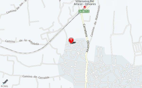 Villanueva Del Ariscal Mapa.Calle Camino De Olivares Callejero De Villanueva Del Ariscal Callejero Net