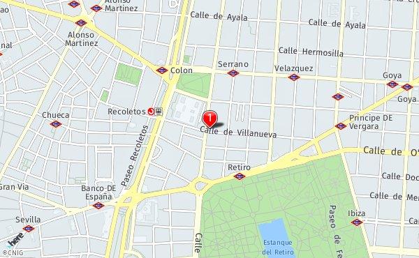 Calle Serrano Madrid Mapa.Calle Serrano 16 Callejero De Madrid Callejero Net