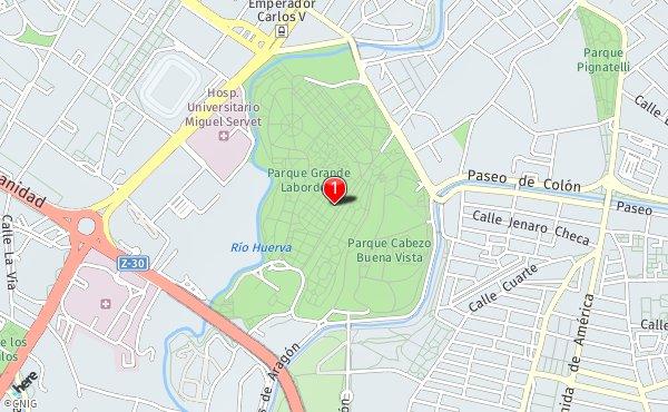 Mapa Parque Grande Zaragoza.Parque Grande Jose Antonio Labordeta Callejero De Zaragoza Callejero Net