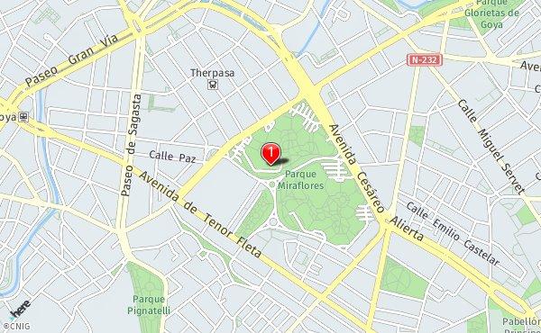 Parque Pignatelli Zaragoza Mapa.Paseo De Los Rosales 28 Duplicado Callejero De Zaragoza