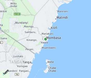 Area of taxi rate Mombasa