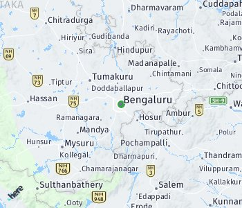 Area of taxi rate Bangalore