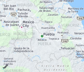 Area of taxi rate Puebla