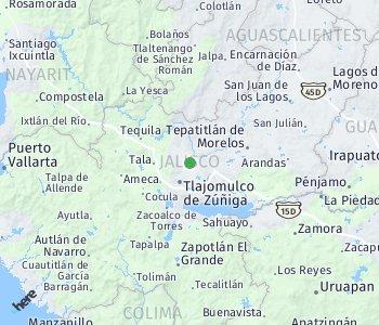 Area of taxi rate Guadalajara