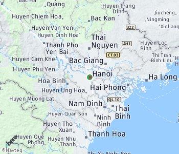 Lage des Taxitarifgebietes Hanoi