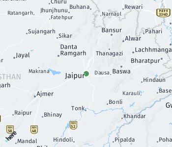 Area of taxi rate Jaipur