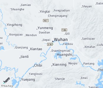 Area of taxi rate Wuhan
