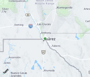 Area of taxi rate El Paso