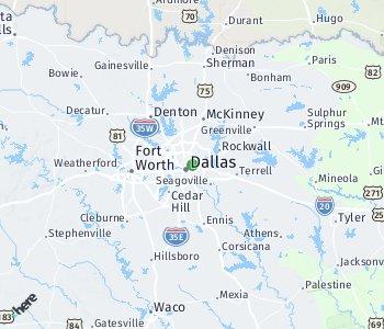 Area of taxi rate Dallas