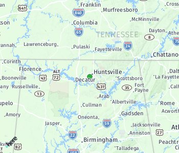 Lage des Taxitarifgebietes Huntsville