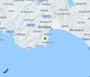 Area of taxi rate Antalya