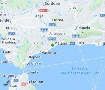 Area of taxi rate Malaga