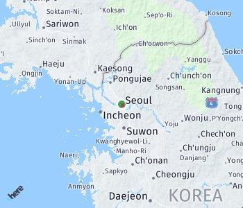 Area of taxi rate Seoul