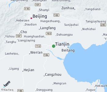 Area of taxi rate Tianjin