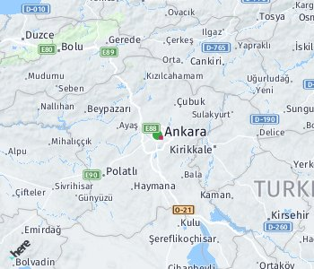 Area of taxi rate Ankara