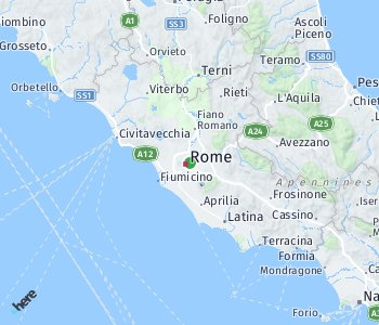 Area of taxi rate Rome