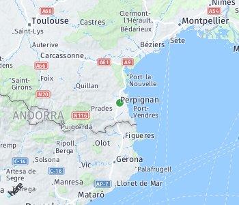 Area of taxi rate Perpignan