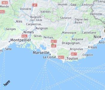 Area of taxi rate Aix-en-Provence