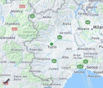Lage des Taxitarifgebietes Turin